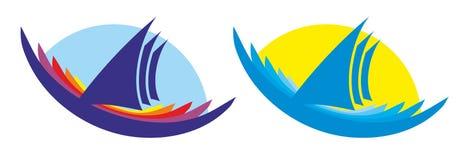 Πλέοντας λογότυπα σκαφών Στοκ εικόνες με δικαίωμα ελεύθερης χρήσης