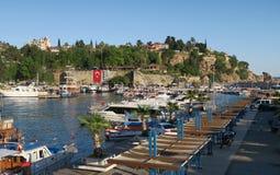Πλέοντας σκάφη και βάρκες στο λιμάνι Oldtown Antalya, Τουρκία Στοκ φωτογραφίες με δικαίωμα ελεύθερης χρήσης