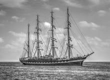 Πλέοντας σκάφος σε γραπτό Στοκ φωτογραφίες με δικαίωμα ελεύθερης χρήσης