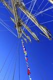 Πλέοντας σχοινιά ιστών σκαφών Στοκ φωτογραφίες με δικαίωμα ελεύθερης χρήσης