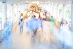 Πλήθος θαμπάδων κινήσεων Στοκ Φωτογραφίες