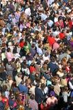 Πλήθος κατά τη διάρκεια ενός θρησκευτικού εορτασμού, Ισπανία στοκ εικόνες με δικαίωμα ελεύθερης χρήσης