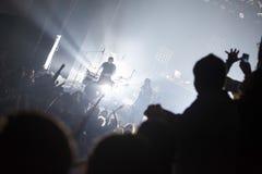 Πλήθος κατά τη διάρκεια μιας επίδειξης Στοκ εικόνες με δικαίωμα ελεύθερης χρήσης