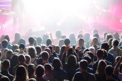 Πλήθος κατά τη διάρκεια μιας συναυλίας στοκ εικόνα