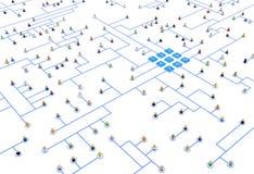Πλήθος κινούμενων σχεδίων, σύστημα πινάκων συνδέσεων Στοκ φωτογραφίες με δικαίωμα ελεύθερης χρήσης