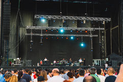 Πλήθος που μαζεύεται για τη συναυλία Στοκ Φωτογραφία