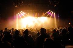 Πλήθος που προσέχει μια συναυλία στο υγιές φεστιβάλ SAN Miguel Primavera στοκ εικόνα με δικαίωμα ελεύθερης χρήσης