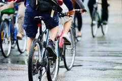 Πλήθος ποδηλάτων Στοκ Φωτογραφία