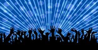 Πλήθος σε μια συναυλία διανυσματική απεικόνιση