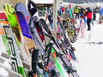 Πλήθος σκι στα βορειοανατολικά της Αμερικής Στοκ φωτογραφίες με δικαίωμα ελεύθερης χρήσης