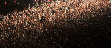 Πλήθος στη συναυλία Στοκ Φωτογραφίες