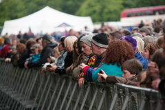 Πλήθος στο φεστιβάλ/την Ιρλανδία μουσικής Στοκ Εικόνες