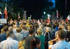 Πλήθος στο demostartion Στοκ Εικόνες