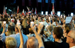 Πλήθος στο demostartion Στοκ φωτογραφίες με δικαίωμα ελεύθερης χρήσης