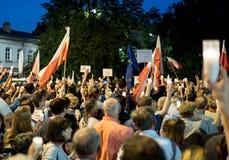 Πλήθος στο demostartion Στοκ Φωτογραφίες