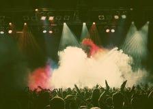 πλήθος συναυλίας Στοκ φωτογραφία με δικαίωμα ελεύθερης χρήσης