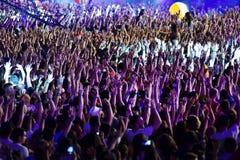 πλήθος συναυλίας Στοκ Φωτογραφίες