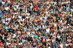 Πλήθος του Βερολίνου Mauerpark Στοκ φωτογραφία με δικαίωμα ελεύθερης χρήσης