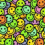 Πλήθος του χαμόγελου emoticons Σχέδιο εικονιδίων χαμόγελων Στοκ Φωτογραφία