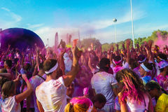 Πλήθος τρεξίματος χρώματος Στοκ Φωτογραφίες