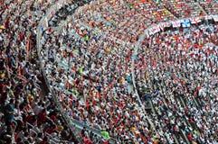 Πλήθος των ανεμιστήρων Στοκ φωτογραφία με δικαίωμα ελεύθερης χρήσης