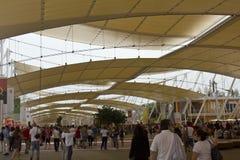 Πλήθος των ανθρώπων που επισκέπτονται EXPO Στοκ Φωτογραφίες