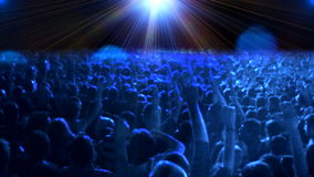 Πλήθος των ανθρώπων που χορεύουν στη συναυλία απόθεμα βίντεο