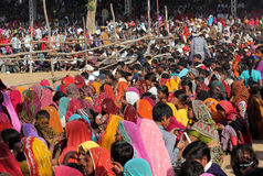 Πλήθος των ανθρώπων στην έκθεση Pushkar Στοκ εικόνες με δικαίωμα ελεύθερης χρήσης