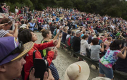 Πλήθος των τουριστών Στοκ εικόνα με δικαίωμα ελεύθερης χρήσης