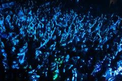 Πλήθος φεστιβάλ στο αστικό κύμα fistival στις 16 Απριλίου 2011 στο Μινσκ, Λευκορωσία στοκ φωτογραφία με δικαίωμα ελεύθερης χρήσης