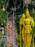 Πλήθος Hindus, σπηλιές Batu, Μαλαισία Στοκ Φωτογραφία