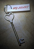 πλήκτρο καρδιών μου Στοκ φωτογραφία με δικαίωμα ελεύθερης χρήσης