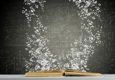 πλήρες απομονωμένο κεφάλι λευκό γνώσης έννοιας βιβλίων ανασκόπησης Στοκ Φωτογραφίες