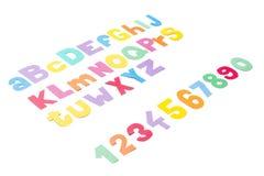 Πλήρες αλφάβητο colourfull - γραφική εργασία. Στοκ Φωτογραφία