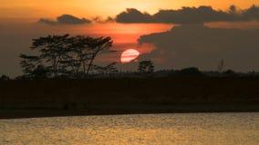 Πλήρες ηλιοβασίλεμα στοκ φωτογραφία
