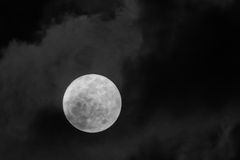 Πλήρες μίνι φεγγάρι 2014 Firest Στοκ Εικόνες