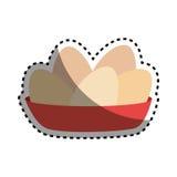 Πλήρες πιάτο χρώματος αυτοκόλλητων ετικεττών με τα αυγά Στοκ φωτογραφίες με δικαίωμα ελεύθερης χρήσης