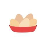 Πλήρες πιάτο χρώματος με τα αυγά Στοκ Εικόνες