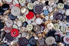 Πλήρες πλαίσιο των κουμπιών στοκ φωτογραφία