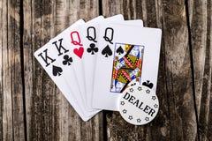 Πλήρες σπίτι - βασιλιάδες & βασίλισσες Poker Στοκ Εικόνες