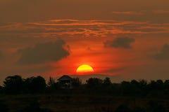 Πλήρες τοπίο ηλιοβασιλέματος στοκ φωτογραφίες με δικαίωμα ελεύθερης χρήσης