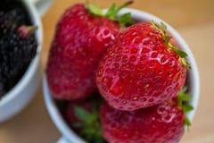 Πλήρες φλυτζάνι των φραουλών Στοκ εικόνα με δικαίωμα ελεύθερης χρήσης
