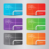 πλήρες χρώμα καρτών σύγχρονο Στοκ φωτογραφία με δικαίωμα ελεύθερης χρήσης