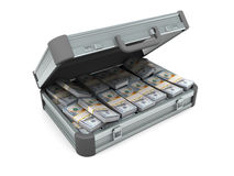 πλήρης βαλίτσα χρημάτων ελεύθερη απεικόνιση δικαιώματος