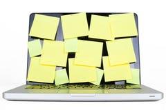 πλήρης θέση lap-top στοκ εικόνα με δικαίωμα ελεύθερης χρήσης