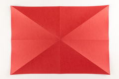 Πλήρης διαγώνια διπλωμένη σελίδα Στοκ Φωτογραφίες