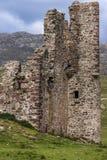 Πλήρης κινηματογράφηση σε πρώτο πλάνο πλαισίων των καταστροφών του Castle Ardvreck, Σκωτία Στοκ Εικόνες