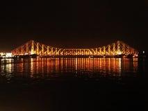 Πλήρης μπροστινή άποψη της γέφυρας του Howrah στοκ φωτογραφίες