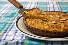 Πλήρης πίτα κολοκύνθης Στοκ Εικόνες