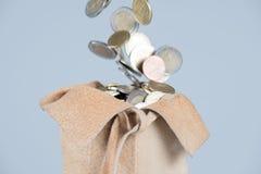 Πλήρης τσάντα των νομισμάτων Στοκ εικόνα με δικαίωμα ελεύθερης χρήσης